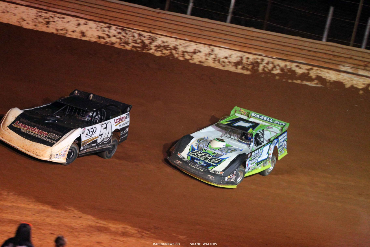 Shanon Buckingham and Josh Richards at Tazewell Speedway - LOLMDS 6590