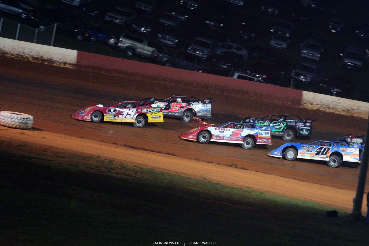 Tim McCreadie, Dale McDowell, Stormy Scott, Devin Moran and Kyle Bronson at Smoky Mountain Speedway - Lucas Oil Series 5963