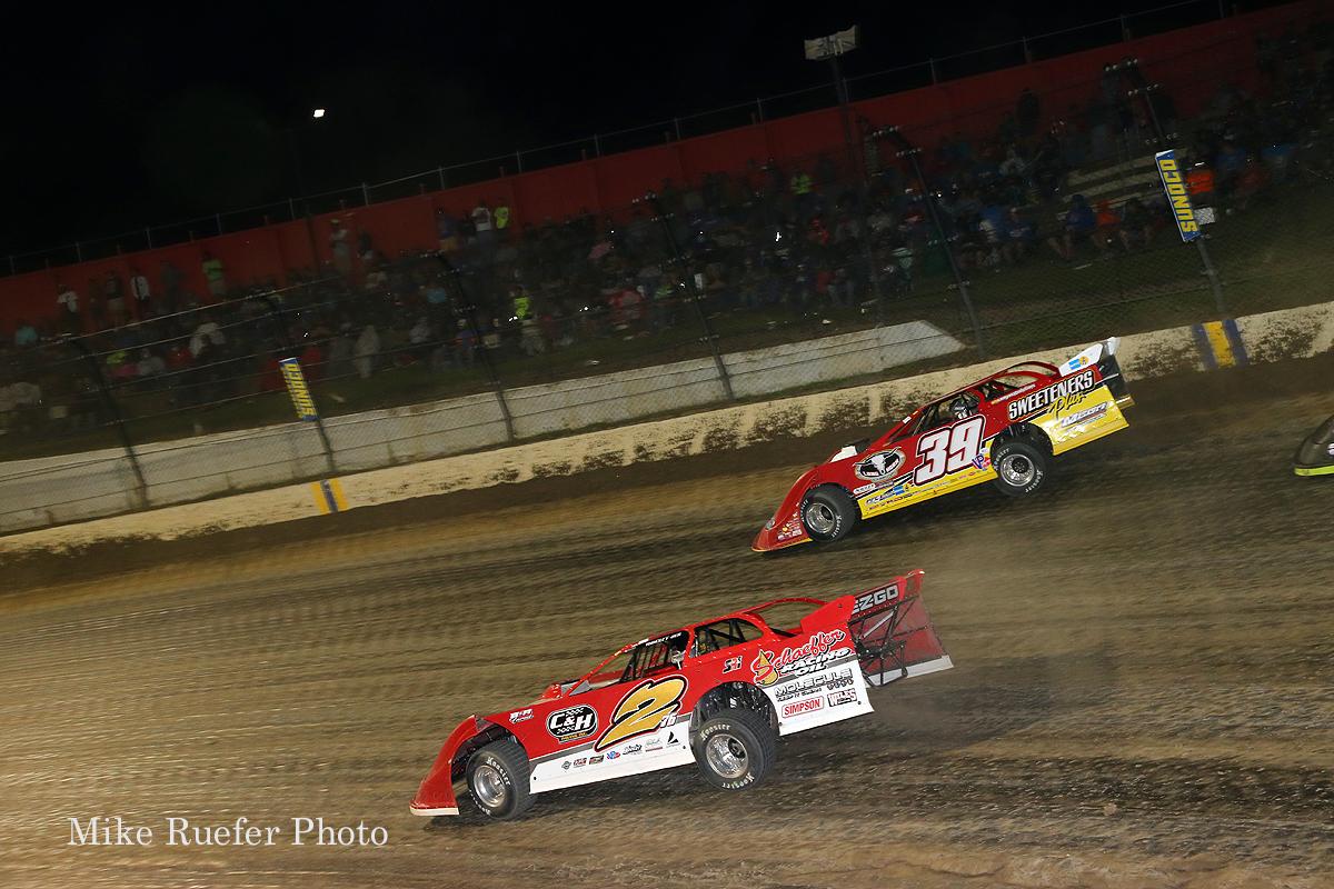 Tim McCreadie and Brandon Overton at Eldora Speedway