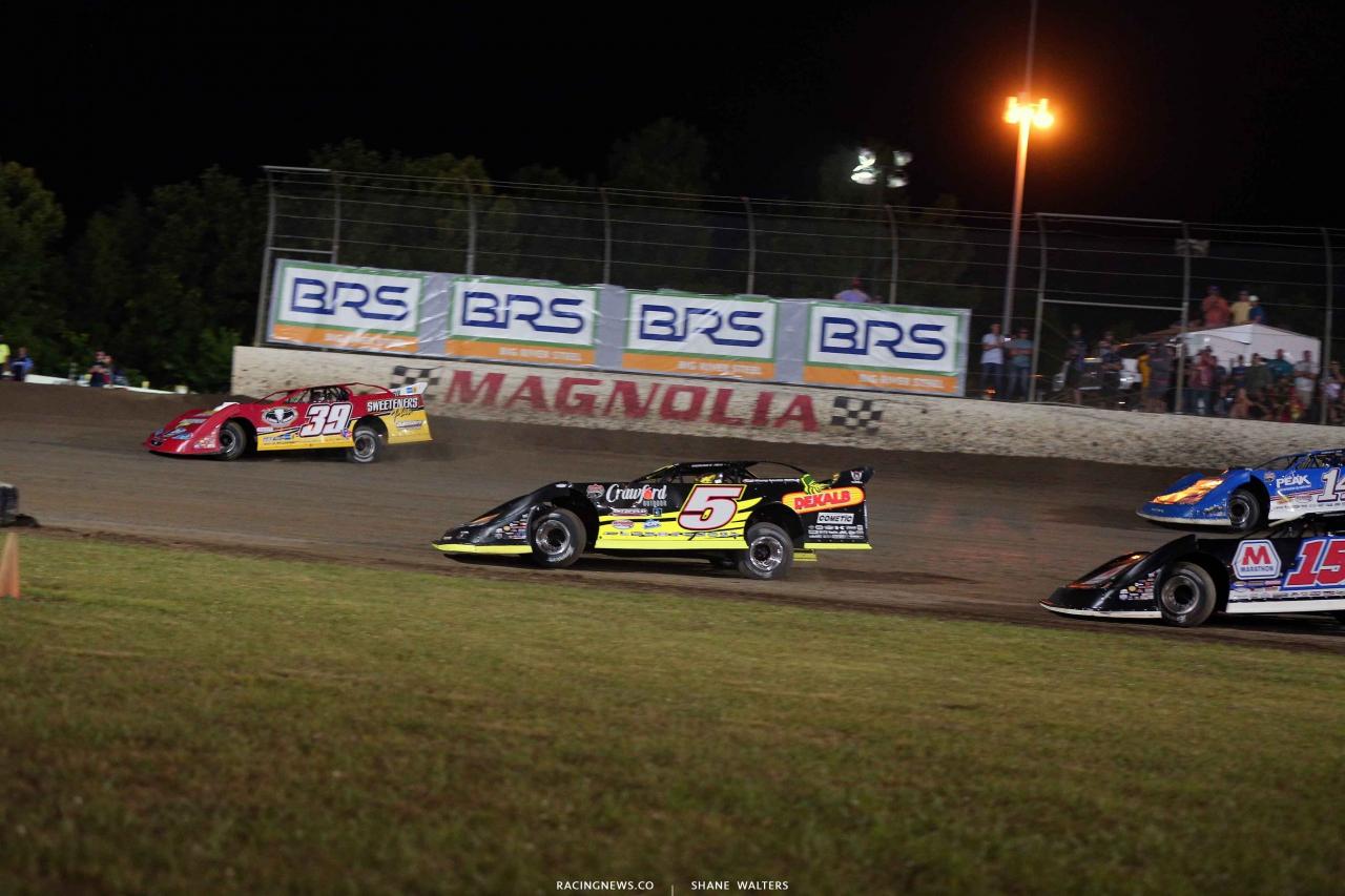 Tim McCreadie and Don O'Neal at Magnolia Motor Speedway 4669