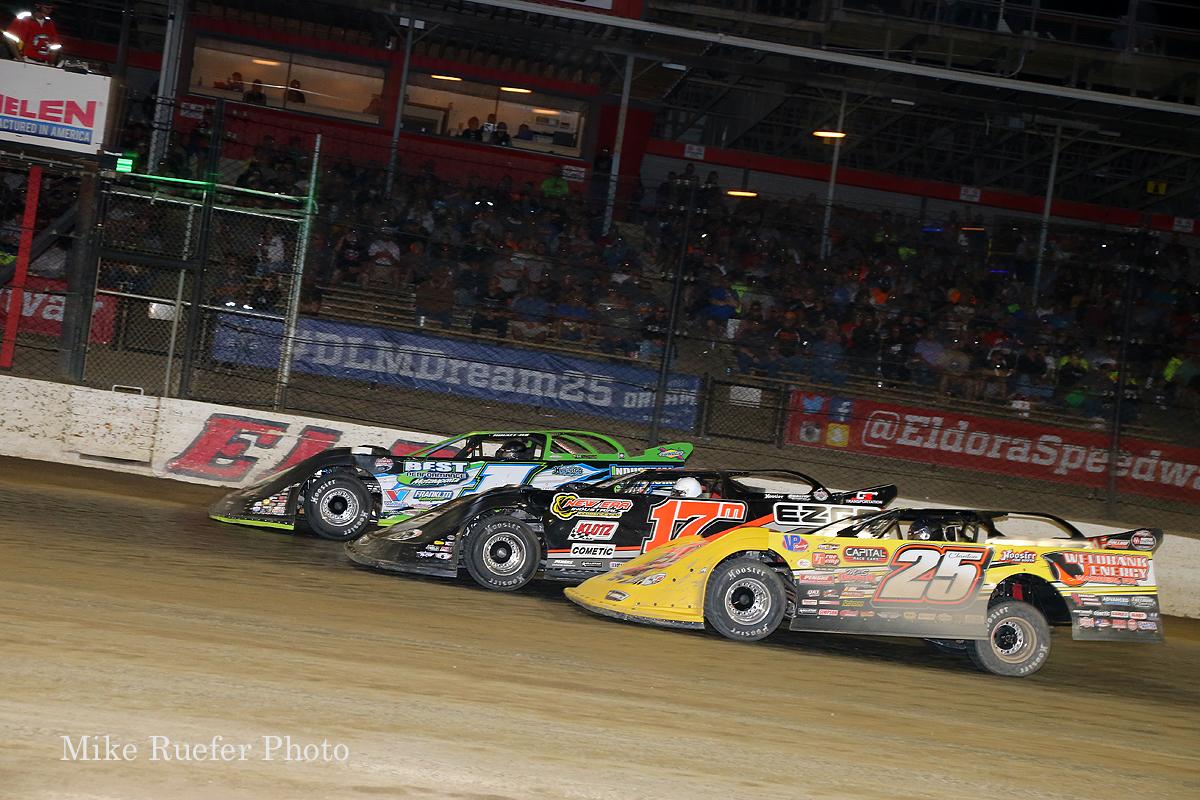 Tyler Erb, Dale McDowell and Shane Clanton at Eldora Speedway