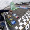 William Byron and Kyle Busch lead them to the green at Pocono Raceway - NASCAR Cup Series - Pocono 400