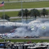 Big crash at Daytona International Speedway