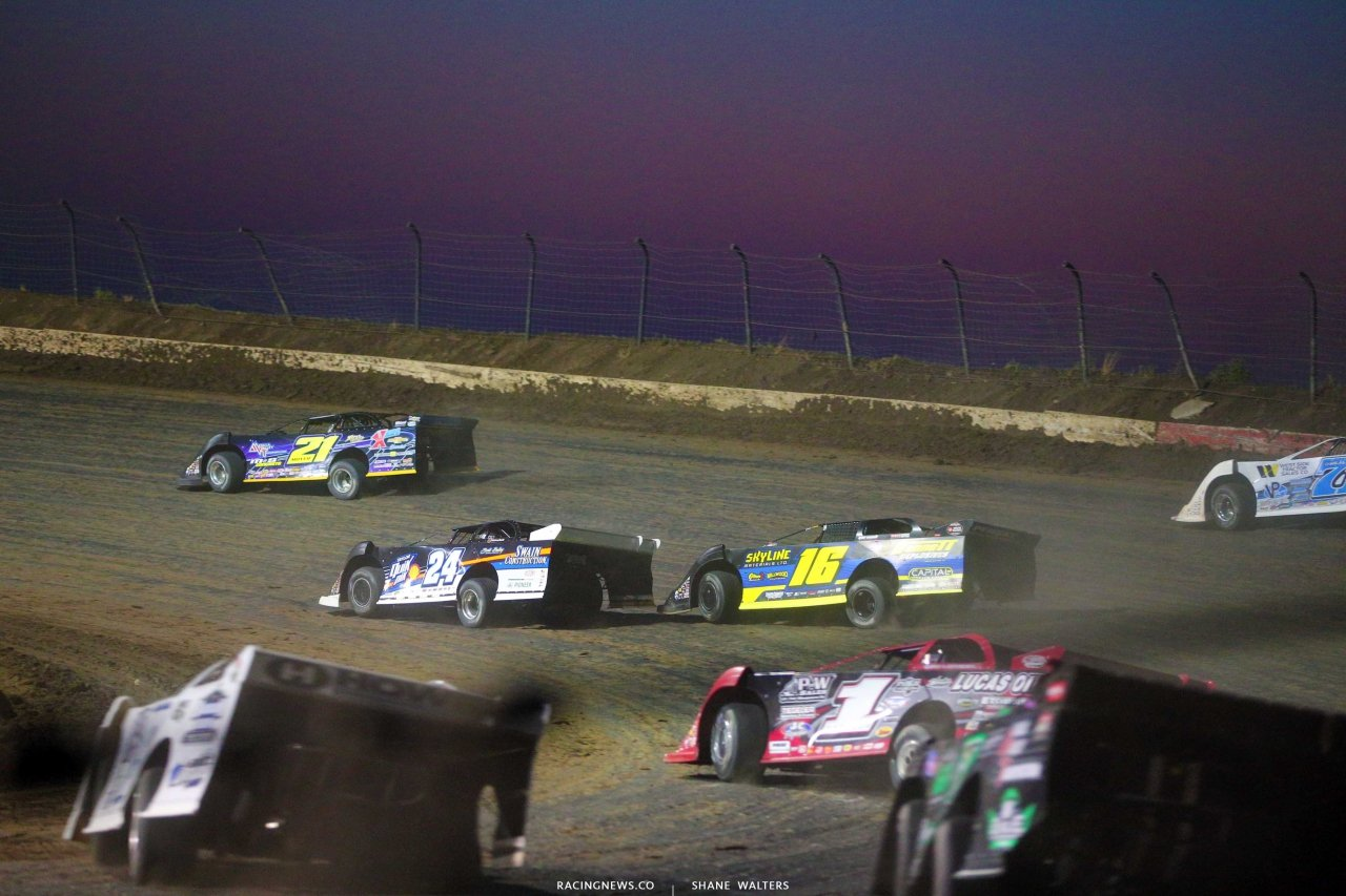 Billy Moyer, Tyler Bruening and Earl Pearson Jr in the Silver Dollar Nationals at I-80 Speedway 2540