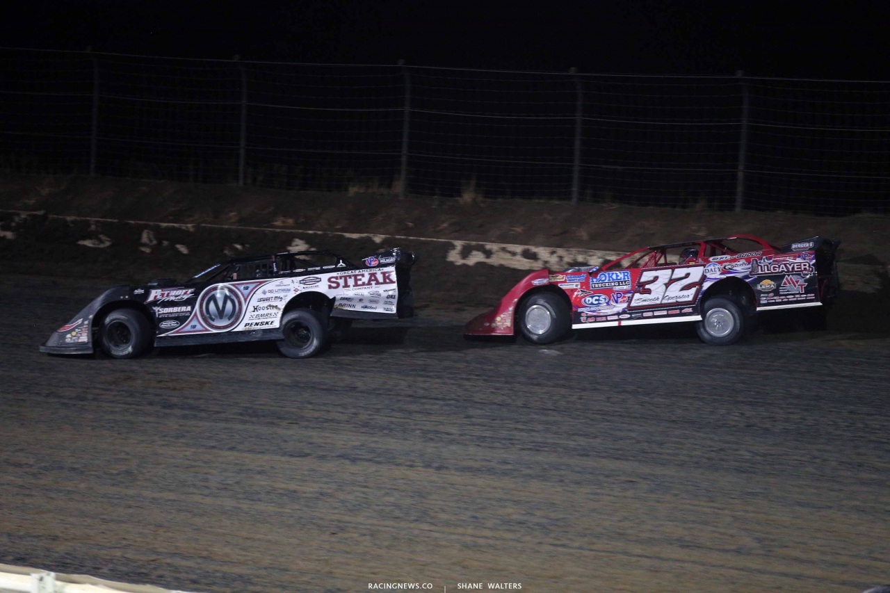 Chris Madden and Bobby Pierce in the Silver Dollar Nationals at I-80 Speedway 2973