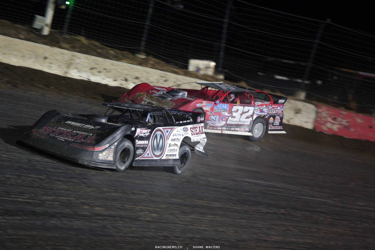 Chris Madden and Bobby Pierce in the Silver Dollar Nationals at I-80 Speedway 2999