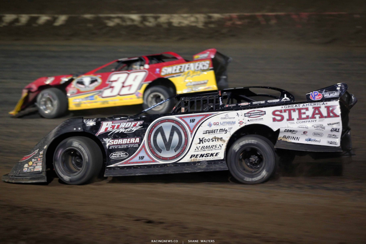 Chris Madden and Tim McCreadie at I-80 Speedway 2890