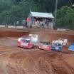 Devin Moran, Billy Moyer Jr, Tim McCreadie and Mike Marlar at Tyler County Speedway - Lucas Dirt 7872
