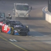 Dillon Bassett hits the sweeper truck at Iowa Speedway