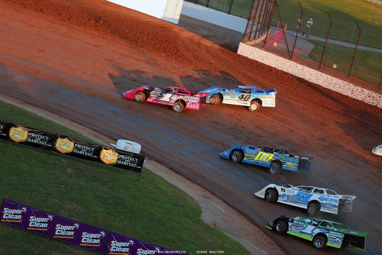 Earl Pearson Jr, Kyle Bronson, Jesse Stovall, Hudson O'Neal and Tyler Erb at Lucas Oil Speedway - Lucas Oil Late Models 0049