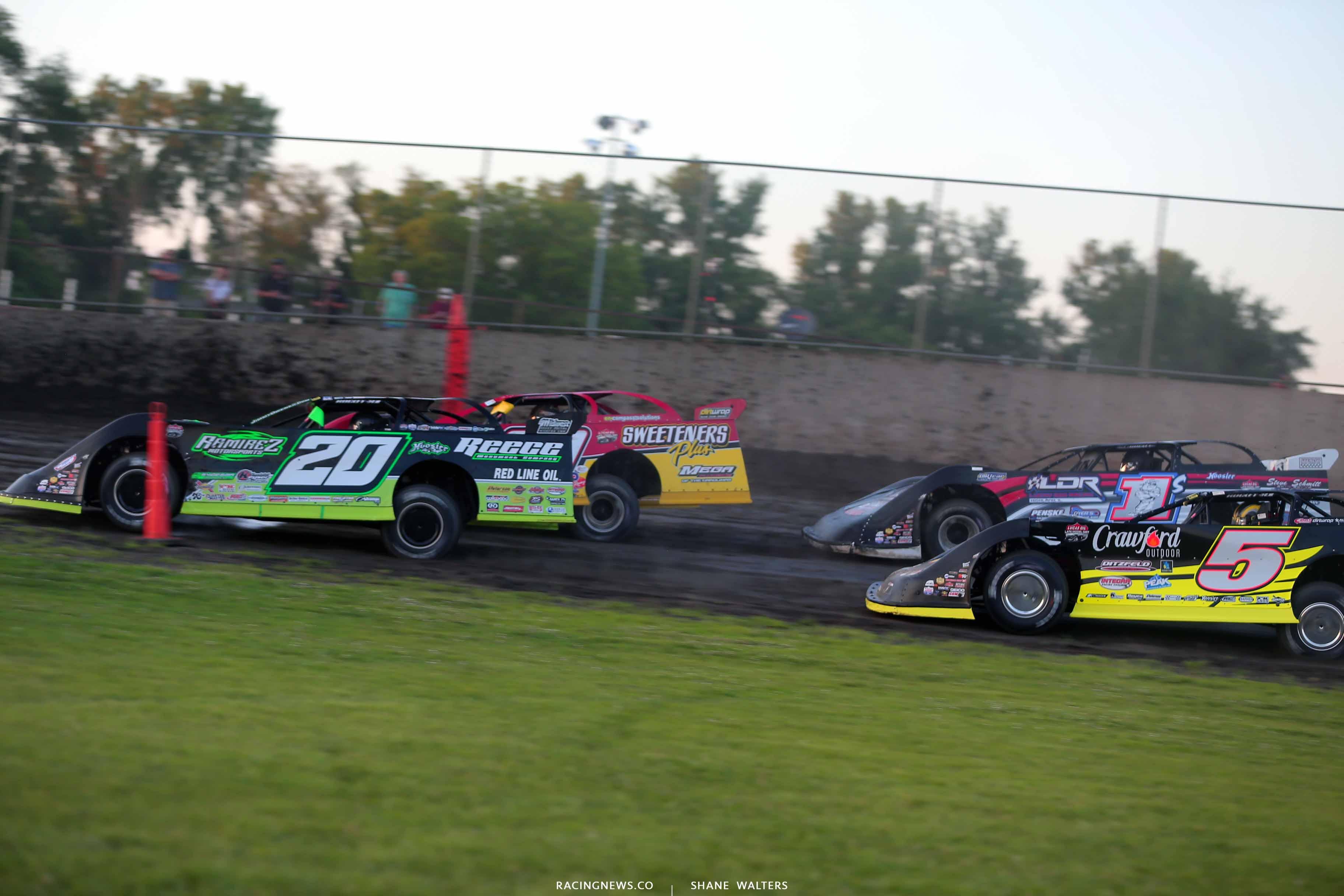 Jimmy Owens, Tim McCreadie, Michael Norris and Risk Salter at Tri-City Speedway - LOLMDS 8525