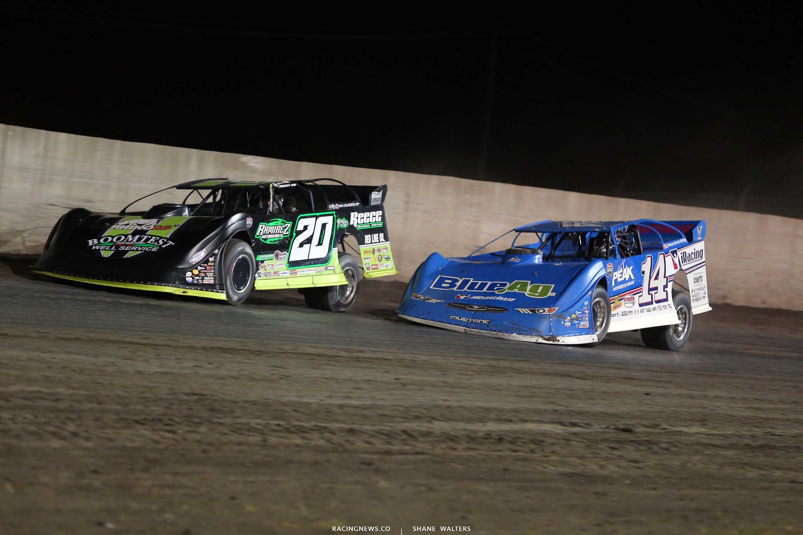 Jimmy Owens and Josh Richards at Tri-City Speedway - LOLMDS 9522