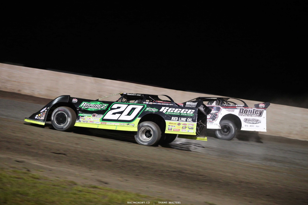 Jimmy Owens and Shannon Babb at Tri-City Speedway - Lucas Oil Series 9481