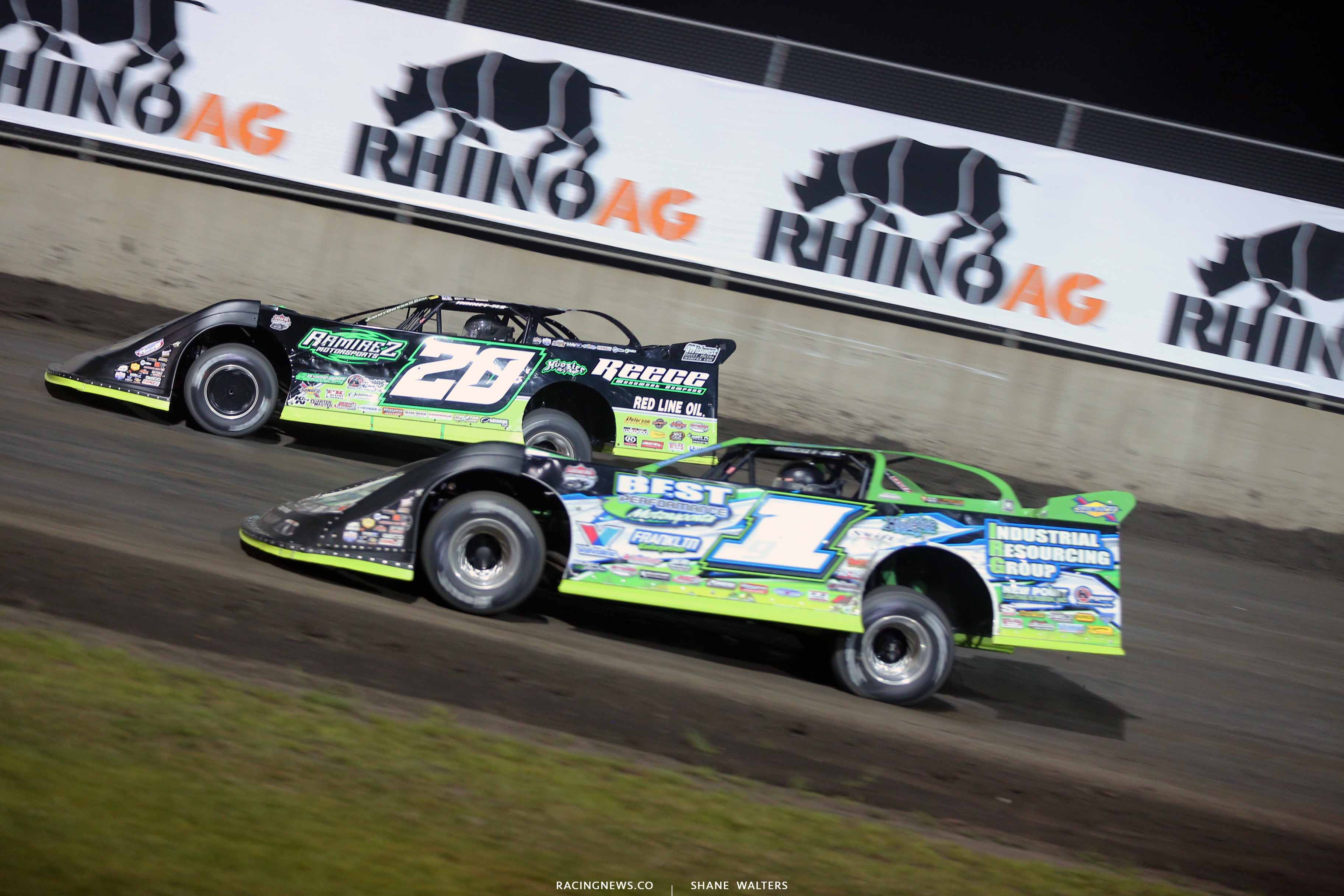 Jimmy Owens and Tyler Erb at Tri-City Speedway - Lucas Oil Series 8631
