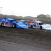 Joanthan Davenport and Brandon Sheppard at Brown County Speedway - Dirt Late Models 1241