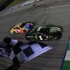Kurt Busch and Kyle Busch at the finish line at Kentucky Speedway - NASCAR