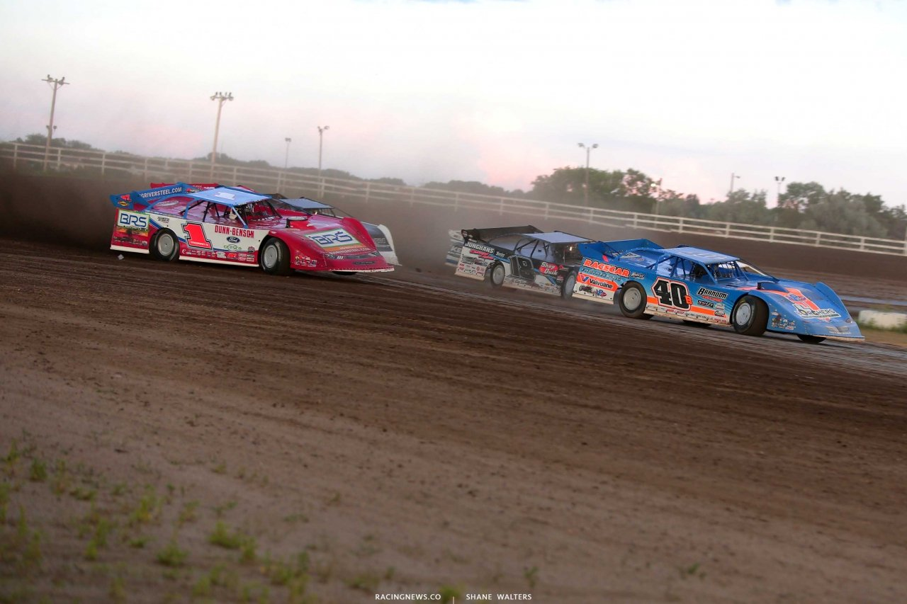 Kyle Bronson and Devin Moran at Brown County Speedway - Lucas Oil Series 1337