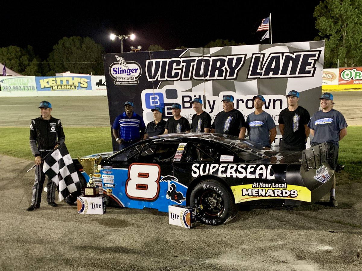 Matt Kenseth wins at Slinger Speedway