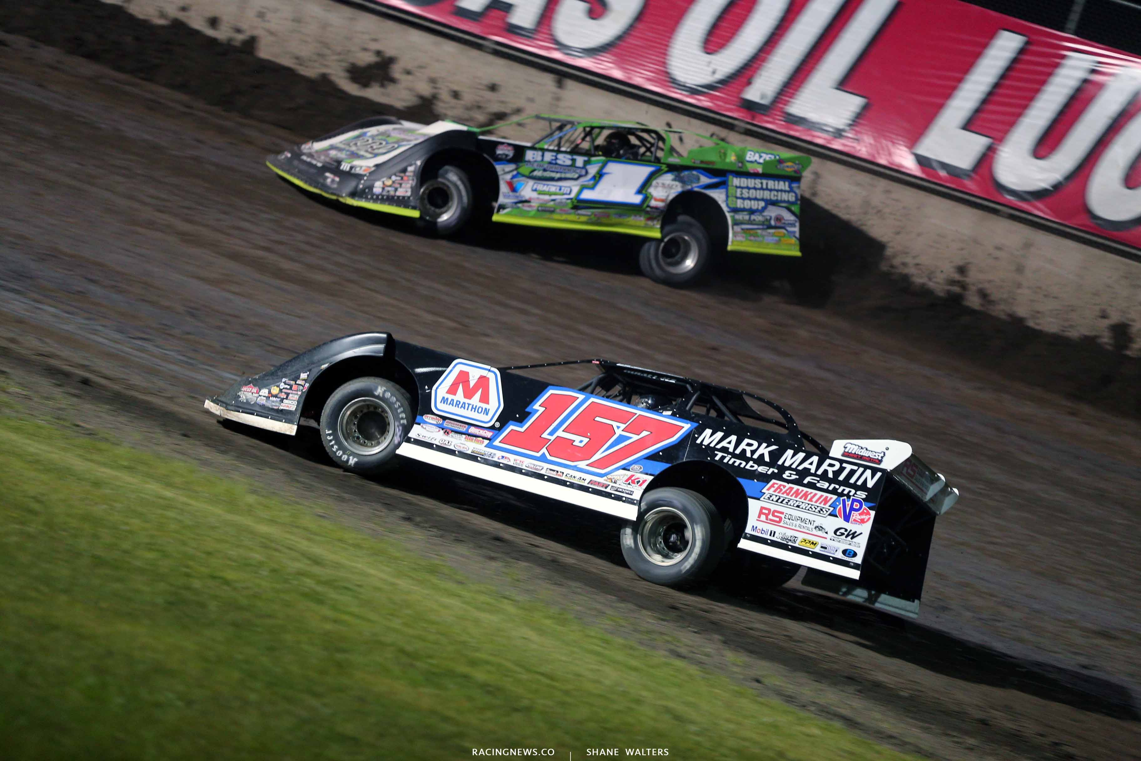 Mike Marlar and Tyler Erb at Tri-City Speedway - Lucas Series 8740