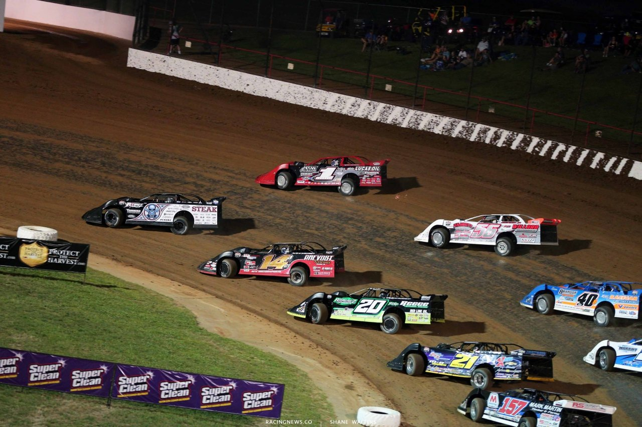 Scott Bloomquist, Earl Pearson Jr, Jimmy Owens, Billy Moyer, Kyle Bronson at Lucas Oil Speedway - Lucas Oil Late Models 0177