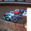 Scott Bloomquist, Jimmy Owens, Mike Marlar, Gavin Landers, Jonathan Davenport and Shannon Babb at Lucas Oil Speedway - LOLMDS 9972
