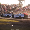 Scott Bloomquist, Jonathan Davenport and Mike Marlar at Tri-City Speedway - Lucas Oil Late Model Dirt Series 9268