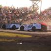 Scott Bloomquist, Jonathan Davenport and Mike Marlar at Tri-City Speedway - Lucas Oil Late Model Dirt Series 9268