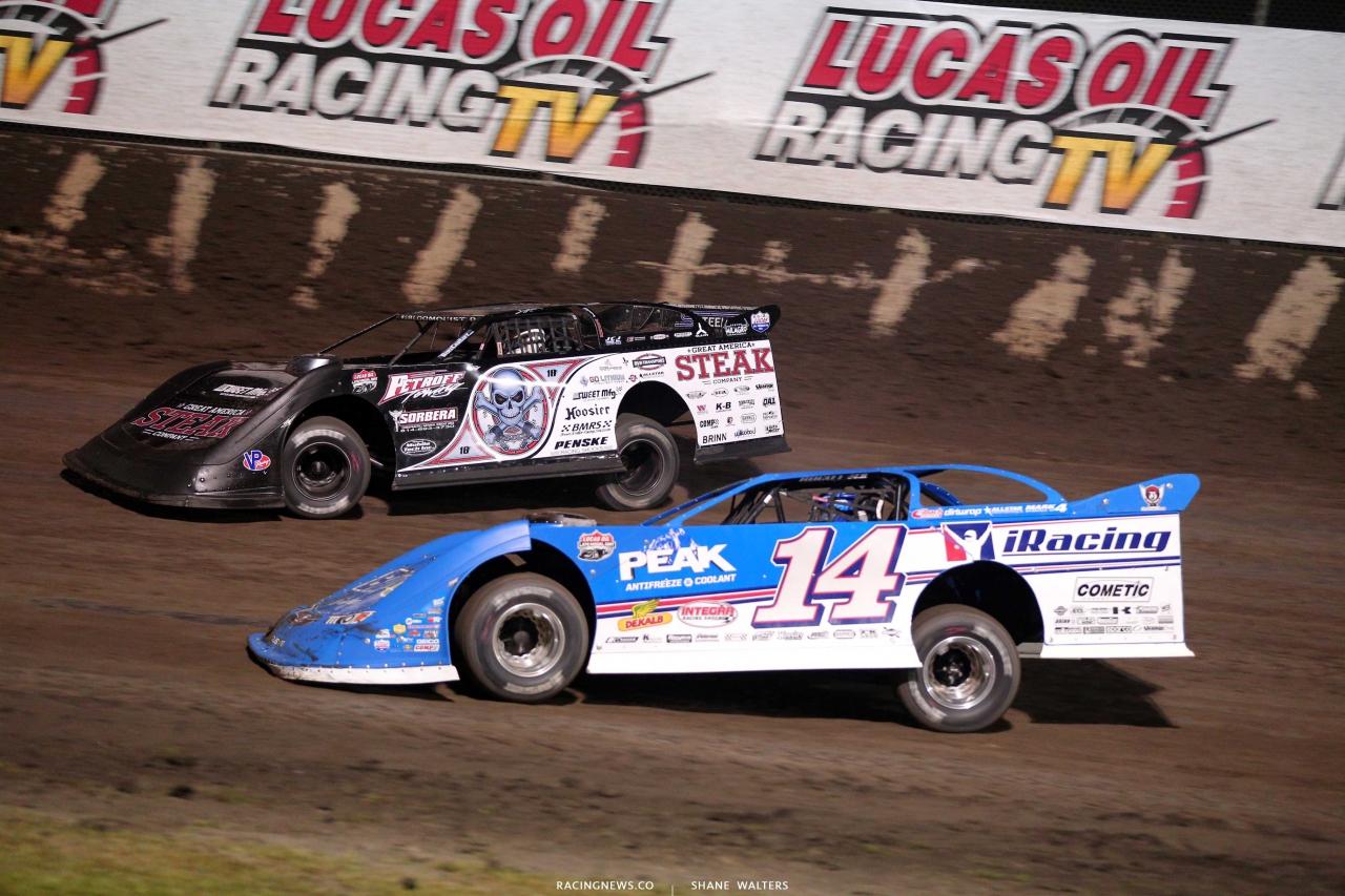 Scott Bloomquist and Josh Richards at Tri-City Speedway - LOLMDS 9398