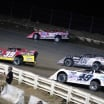 Tim McCreadie, Bobby Pierce, Chris Madden and Jonathan Davenport in the SIlver Dollar Nationals at I-80 Speedway 2926
