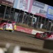 Tim McCreadie and Bobby Pierce in the Silver Dollar Nationals at I-80 Speedway - LOLMDS 2877