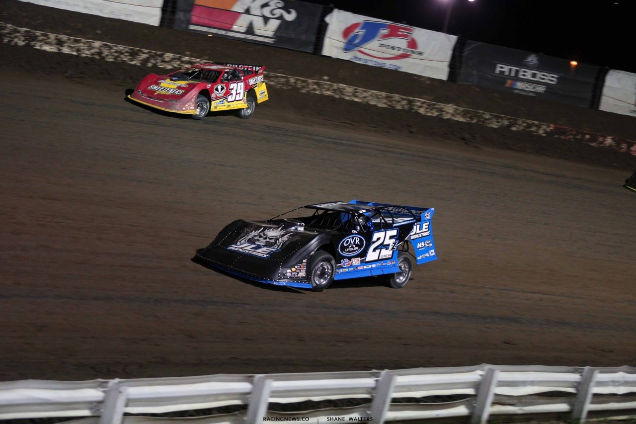 Tim McCreadie and Mason Zeigler at I-80 Speedway - Lucas Oil Late Models 2794