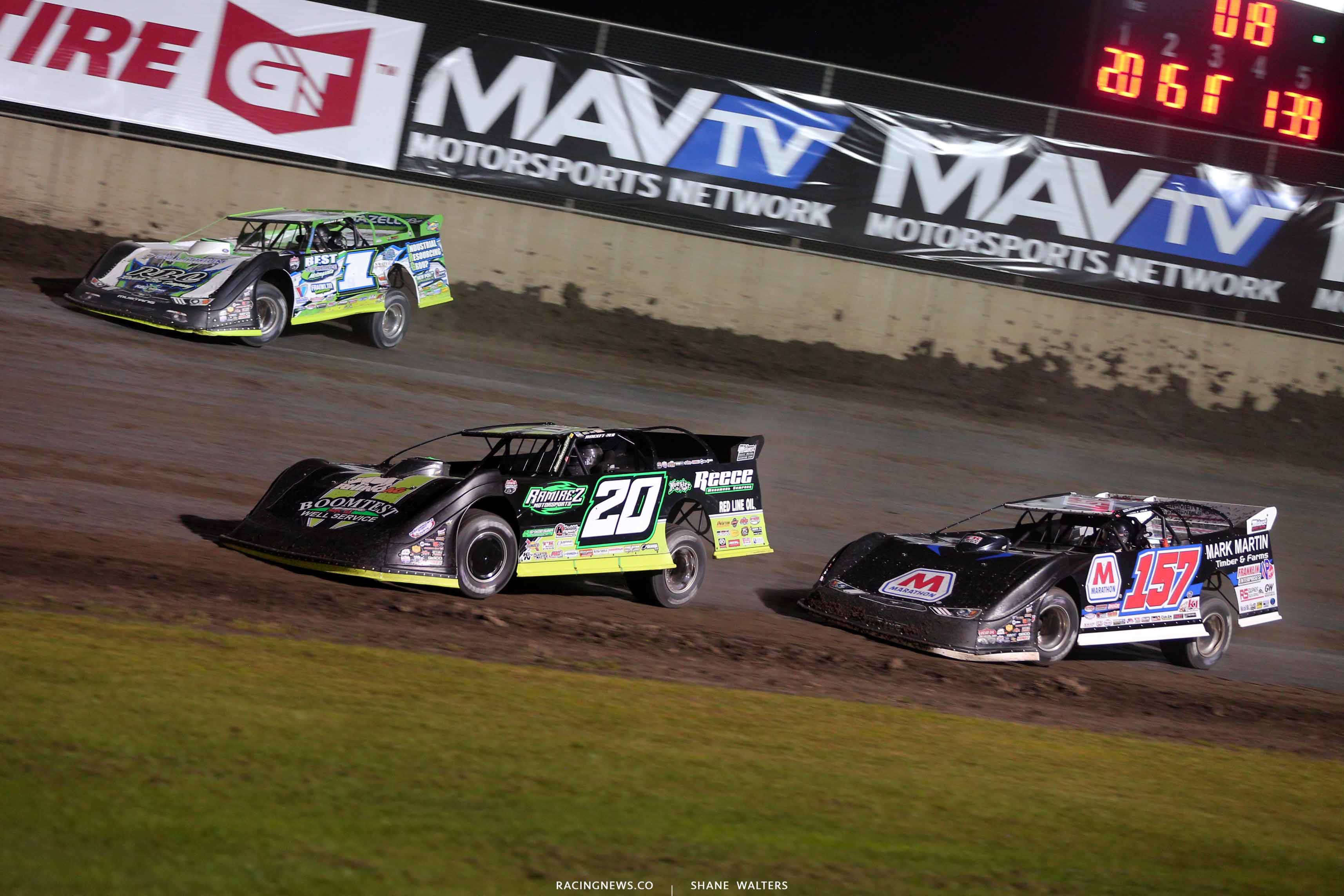 Tyler Erb, Jimmy Owens and Mike Marlar at Tri-City Speedway - Lucas Oil Dirt Series 8679
