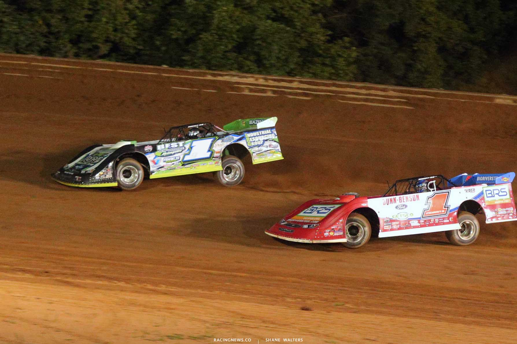 Tyler Erb and Devin Moran at Tyler County Speedway 8023