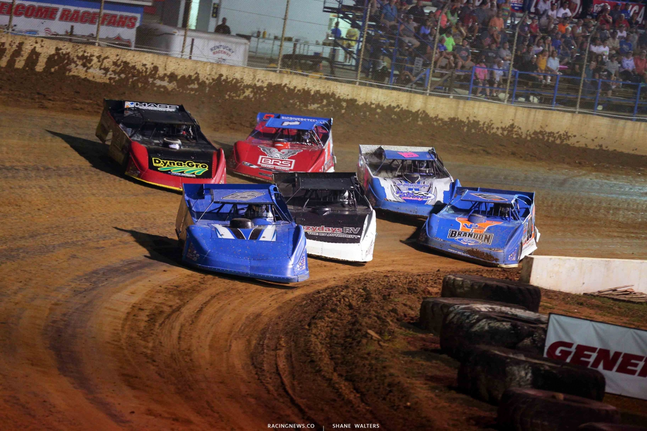 Billy Green, Shanon Buckingham, Billy Moyer Jr, Devin Moran and Kyle Bronson at Florence Speedway - Lucas Oil Late Models 3222