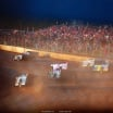 Billy Moyer Jr and Frank Heckenast Jr at Florence Speedway - Lucas Series 3534