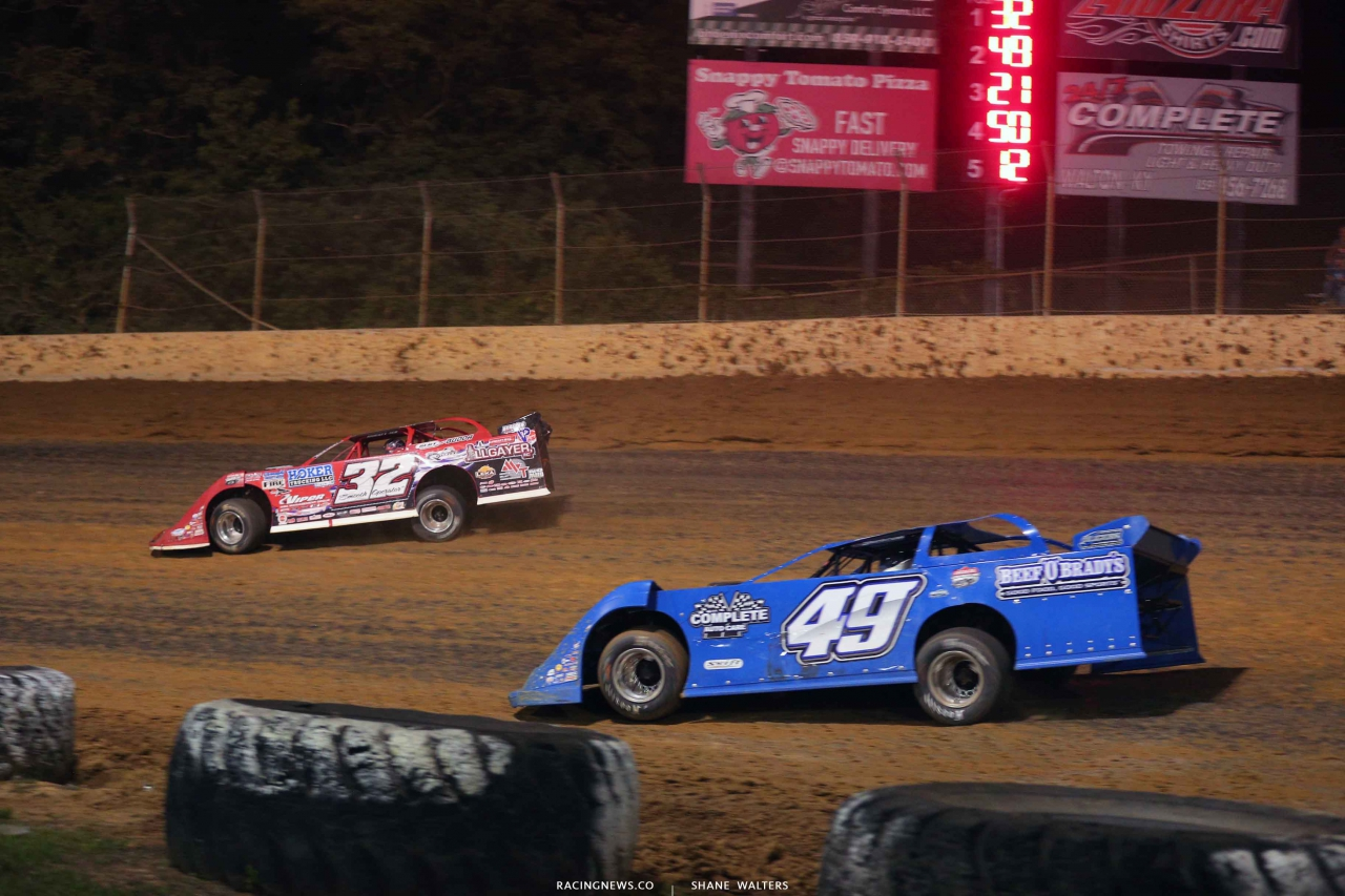 Bobby Pierce and Billy Green at Florence Speedway - Lucas Oil Late Models 3650