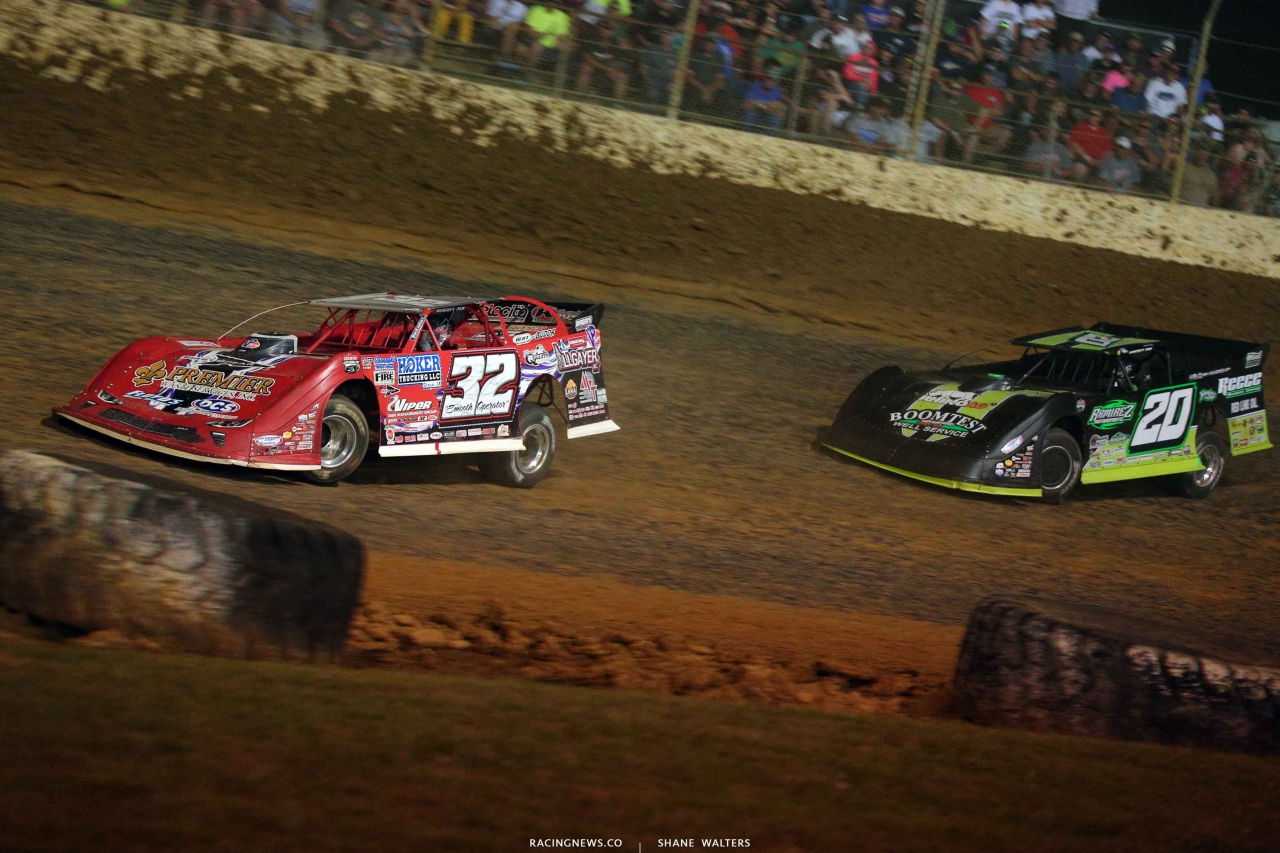 Bobby Pierce and Jimmy Owens at Florence Speedway in the North South 100 3904