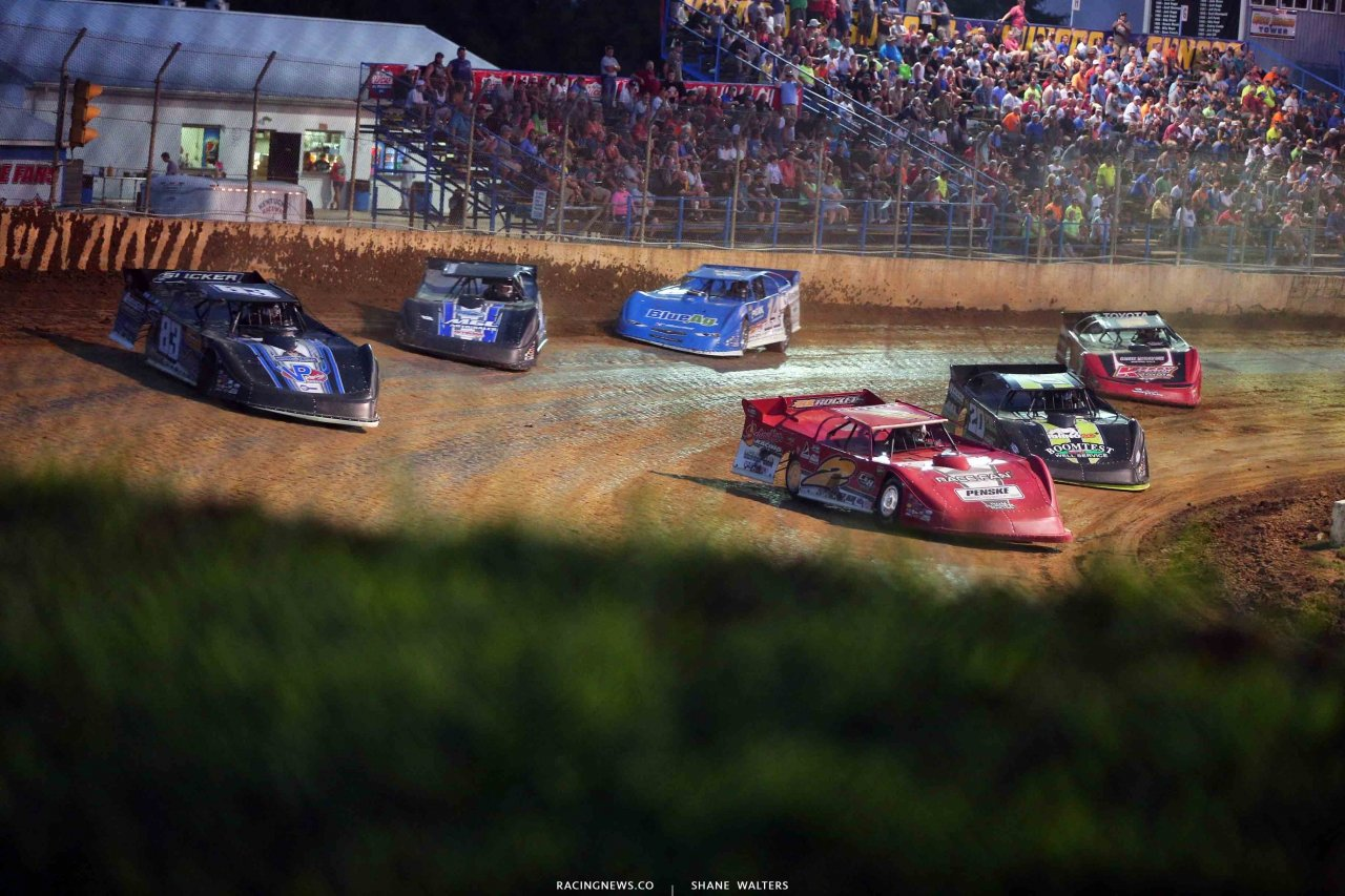 Brandon Overton, Scott James, Jimmy Owens at Florence Speedway - Lucas Oil Dirt Series 3151