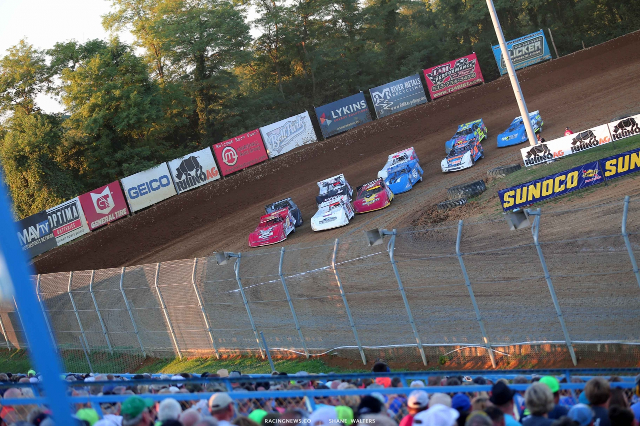 Brandon Overton, Zack Dohm and tim McCreadie at Florence Speedway - Lucas Oil Series 3764