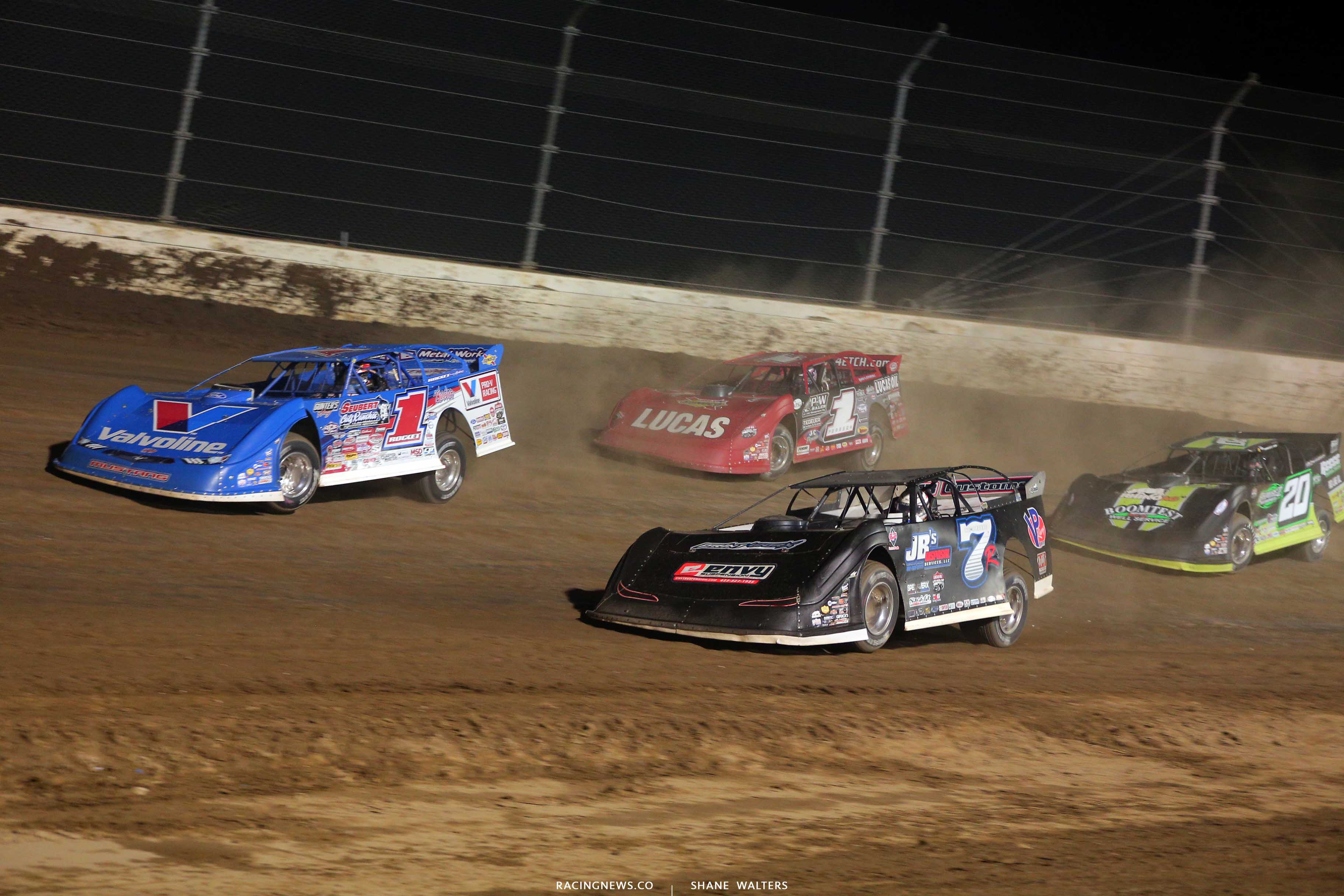 Brandon Sheppard, Kent Robinson, Earl Pearson Jr and Jimmy Owens at Mansfield Motor Speedway - Dirt Million 5334