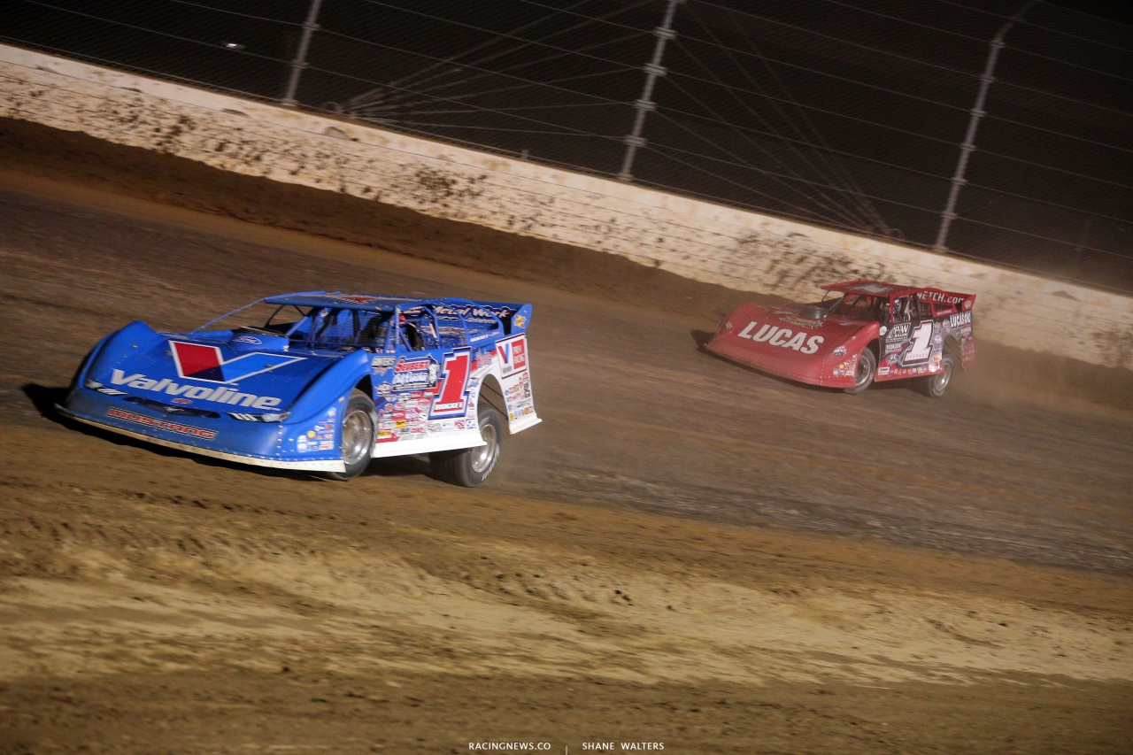 Brandon Sheppard and Earl Pearson Jr at Mansfield Motor Speedway - Lucas Oil Series - Dirt Million 537