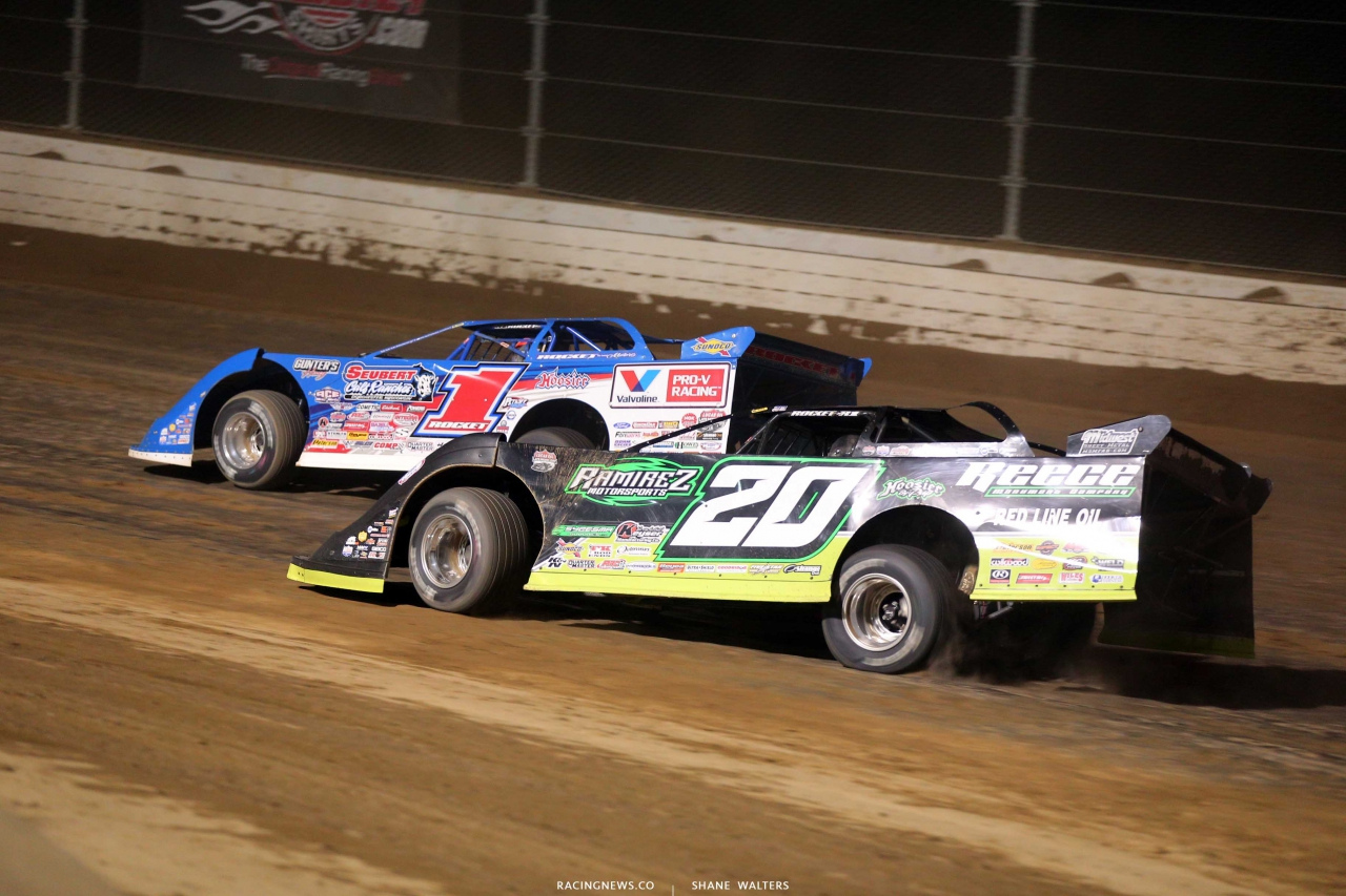 Brandon Sheppard and Jimmy Owens at Mansfield Motor Speedway - Dirt Million - Lucas Oil Late Model Dirt Series 5409