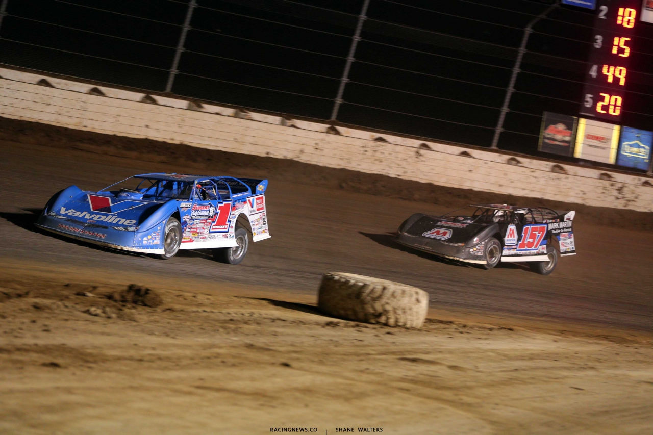 Brandon Sheppard and Mike Marlar at Mansfield Motor Speedway in the Dirt Million - Lucas Oil Late Models 5764