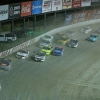 Chase Briscoe leads in the Eldora Dirt Derby - NASCAR Truck Series - Eldora Speedway