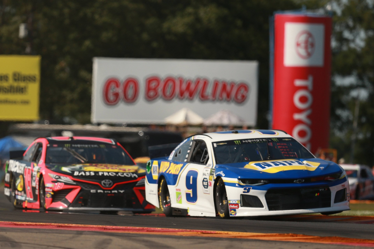 Chase Elliott and Martin Truex Jr at Watkins Glen International - NASCAR