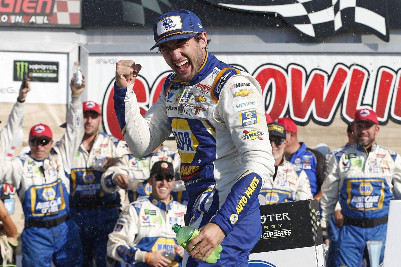 Chase Elliott in victory lane at Watkins Glen International - NASCAR Cup Series