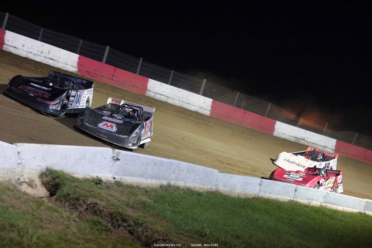 Chris Madden, Mike Marlar, Brandon Overton and Jonathan Davenport at Batesville Motor Speedway - LOLMDS 4348