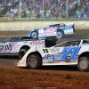 Chris Madden, Mike Marlar and Hudson O'Neal in the North South 100 at Florence Speedway - Lucas Oil Series 3989