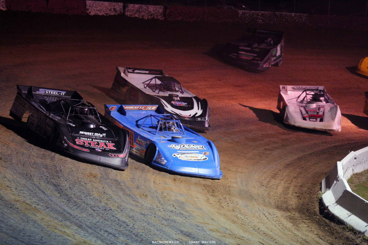 Chris Madden, Neil Baggett and Billy Moyer at Batesville Motor Speedway - Lucas Oil Late Models 4590