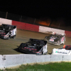 Chris Madden, Scott Bloomquist, Joanthan Davenport and Mike Marlar in the Topless 100 at Batesville Motor Speedway 4833